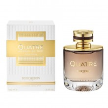 Boucheron Quatre Absolu de Nuit е луксозен женски парфюм, със съблазнителен, ориенталски аромат,  комбиниран с цветя и подправки