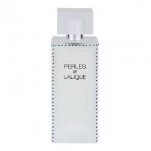 Lalique Perles de Lalique е женски парфюм с чувствен аромат на българска роза, дървесни нотки и стилно, нежно ухание