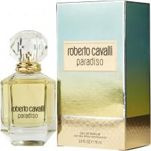 Roberto Cavalli Paradiso е женски парфюм с омагьосващ цветно-плодов аромат, дървесни нотки и чувствено ухание