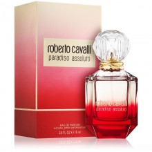 Roberto Cavalli Paradiso Assoluto е луксозен женски парфюм със съблазнителен плодово-цветен ориенталски аромат