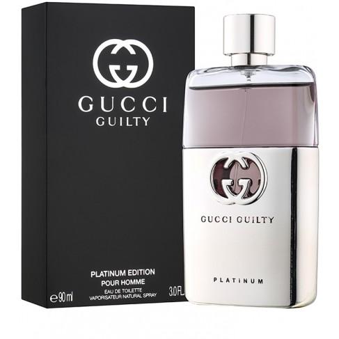 Gucci Guilty Platinum е луксозен женски парфюм с изискан цветен аромат, пикантни и ориенталски нотки и съблазнително ухание