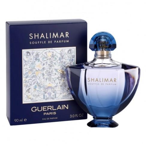 Guerlain Shalimar Souffle е женски парфюм с нежен, чувствен и съблазнителен, ориенталски цветен аромат и плодови нотки