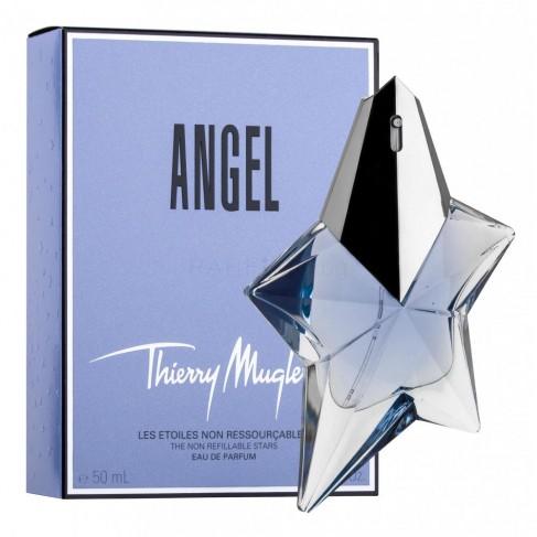 Thierry Mugler Angel е женски парфюм с богат и чувствен плодово-цветен ориенталски аромат и екзотично ухание