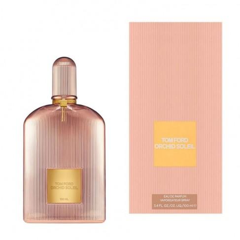 Tom Ford Orchid Soleil е женски парфюм със сияен и чувствен ориенталски цветен аромат, плодови и пикантни нотки