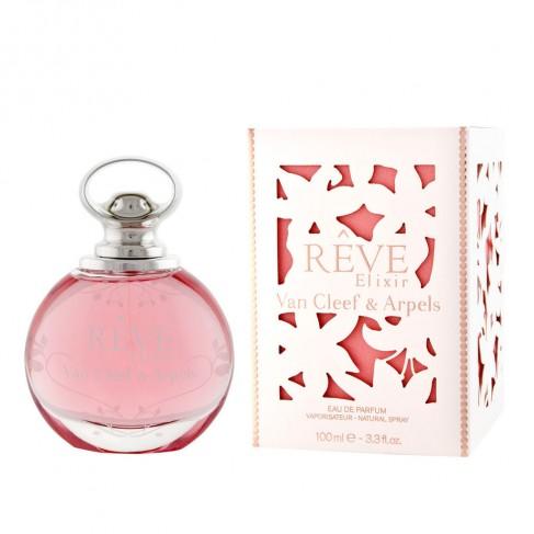 Van Cleef&Arpels Reve Elixir е женски парфюм с наситен и чувствен, цветно-плодов аромат с дървесни нотки  и екзотично ухание