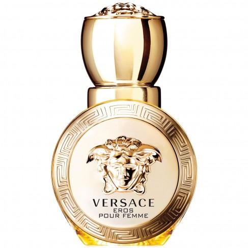 Versace Eros Pour Femme  е луксозен женски парфюм с чувствен и съблазнителен,  плодово-цветен ориенталски аромат