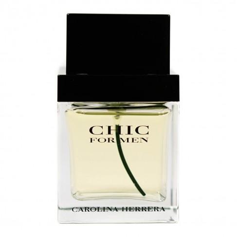 Carolina Herrera Chic for Men е мъжки парфюм с чувствен и шикозен, ориенталски плодов аромат с пикантни и дървесни нотки