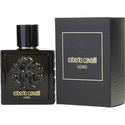 Roberto Cavalli Uomo е мъжки парфюм с чувствен и съблазнителен, ориенталски аромат с дървесни нотки и подправки