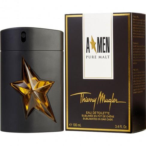 Thierry Mugler A*Men Pure Malt  е мъжки парфюм с чувствен, ориенталски дървесен аромат и ухание на малцово уиски