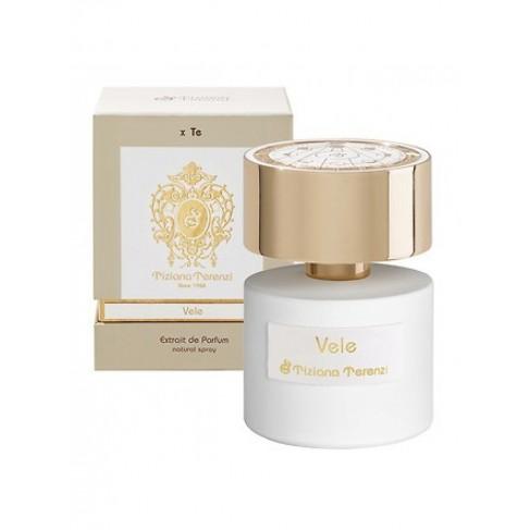 Tiziana Terenzi Vele е унисекс парфюм с богат и свеж цветно-плодов аромат, мускусни нотки и подправки