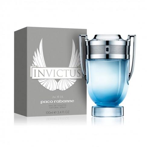 Paco Rabanne Invictus Aqua е мъжки парфюм със свеж и енергизиращ дървесен аромат с морски тонове - 1