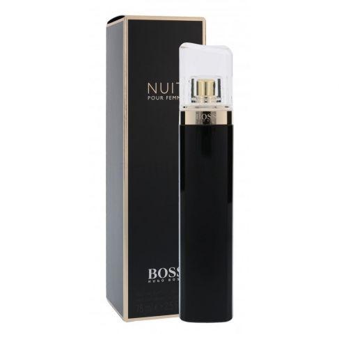 Hugo Boss Nuit е женски парфюм с чувствен цветен аромат, плодови и ориенталски нотки и съблазнително, опияняващо ухание