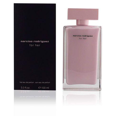 Narciso Rodriguez For Her е женски парфюм с наситен ориенталски цветен аромат и съблазнително, изискано ухание