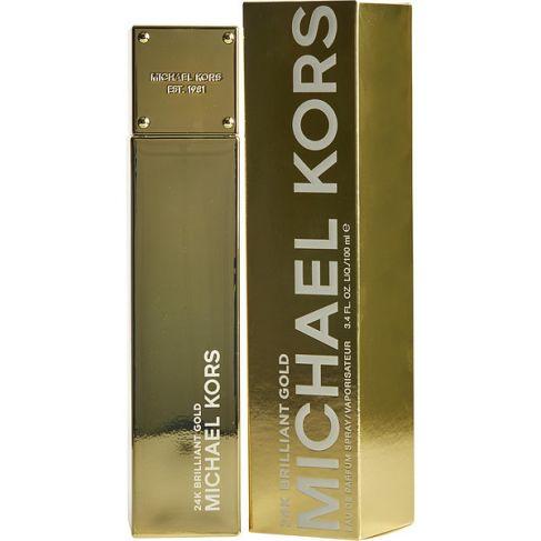 Michael Kors 24K Brilliant Gold е луксозен женски парфюм с чувствен цветен аромат, плодови нотки и дървесна база
