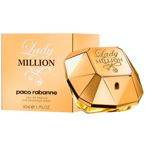 Paco Rabanne Lady Million е луксозен женски парфюм с чувствен  плодово-цветен аромат и ориенталски нотки