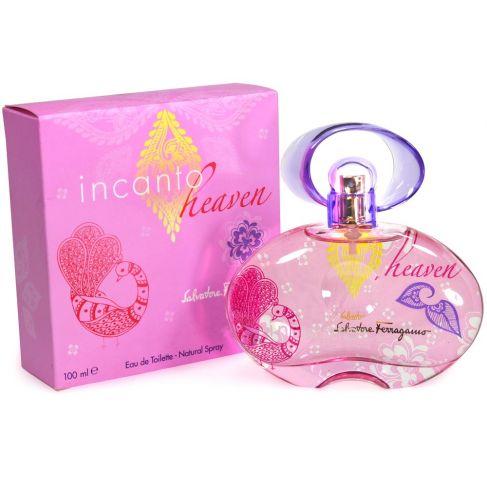 Salvatore Ferragamo Incanto Heaven е женски парфюм със свеж плодово-цветен аромат, мускусни нотки и омайващо ухание