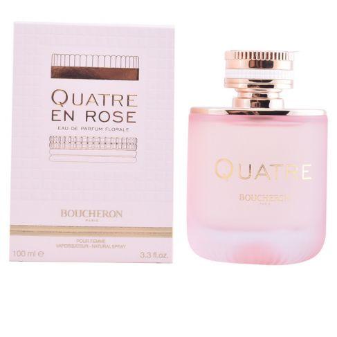 Boucheron Quatre En Rose е луксозен женски парфюм с деликатен и съблазнителен, плодово-цветен ориенталски аромат