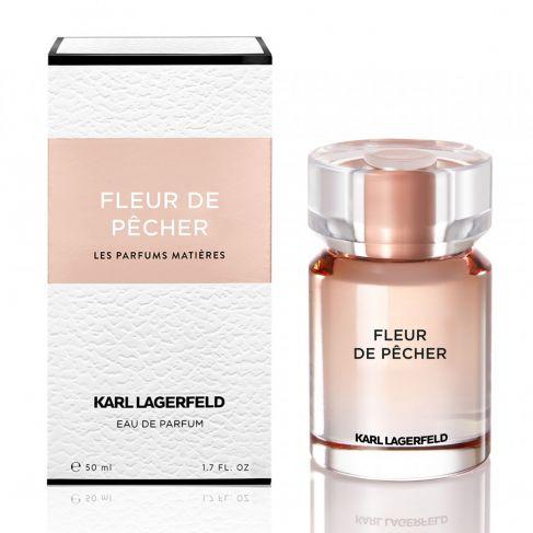 Karl Lagerfeld Fleur de Pecher е женски парфюм с нежен и свеж, плодово-цветен аромат, мускусни и дървесни нотки
