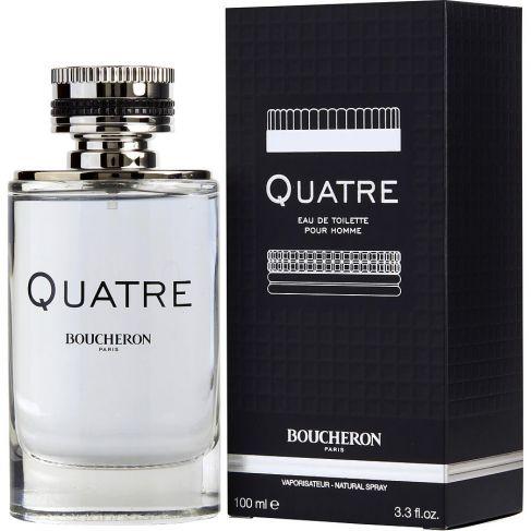 Boucheron Quatre pour Homme е мъжки парфюм с очарователен плодово-цветен аромат и дървесно-мускусна основа