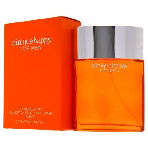 Clinique Happy for Men е мъжки парфюм със свеж и енергизиращ, цитрусов аромат с дървесни и морски нотки