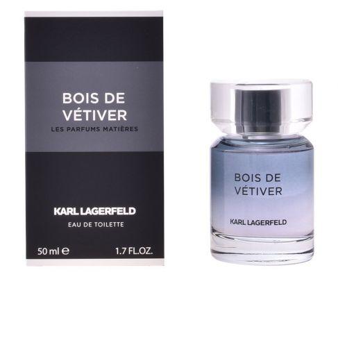 Karl Lagerfeld Bois de Vetiver е мъжки парфюм с чувствен и свеж дървесно-мускусен аромат, с плодови и цветни нотки