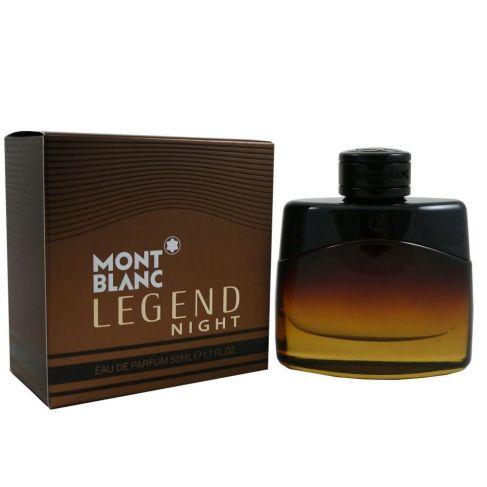 Mont Blanc Legend Night е мъжки парфюм със свеж и съблазнителен дървесен аромат, плодови нотки и подправки