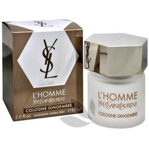 Yves Saint Laurent L`Homme Cologne Gingembre е мъжки парфюм със свеж дървесно-мускусен аромат и пикантно ухание на джинджифил