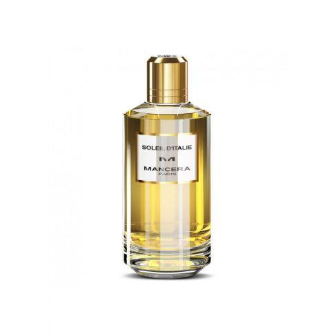 Mancera Soleil d`Italie е унисекс парфюм с топъл и свеж, плодово-ориенталски аромат, дървесни и пикантни нотки